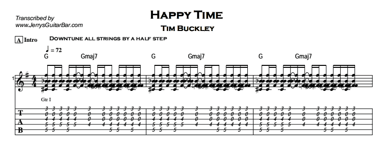 Tim Buckley – Happy Time Tab