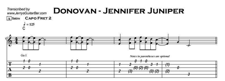 Donovan - Jennifer Juniper Tab