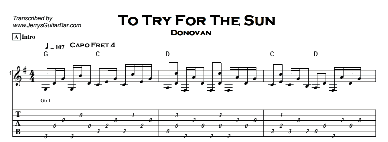 Donovan - To Try For The Sun Tab