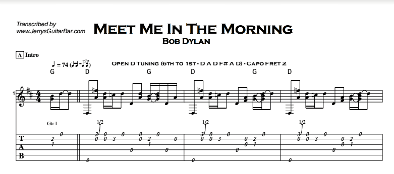 Bob Dylan - Meet Me In The Morning Tab