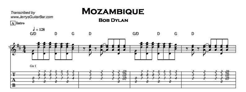 Bob Dylan - Mozambique Tab