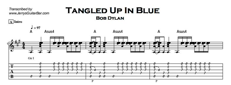 Bob Dylan - Tangled Up In Blue Tab