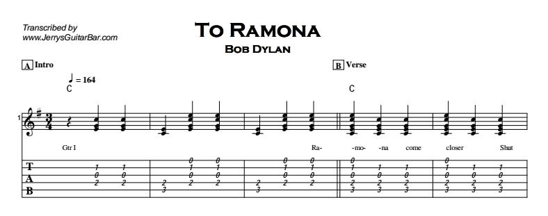 Bob Dylan – To Ramona Tab