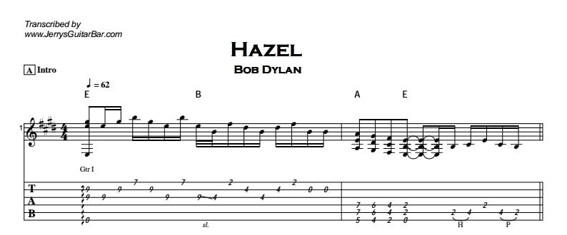 Bob Dylan - Hazel Tab
