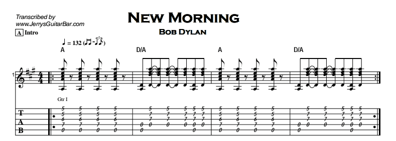 Bob Dylan – New Morning Tab