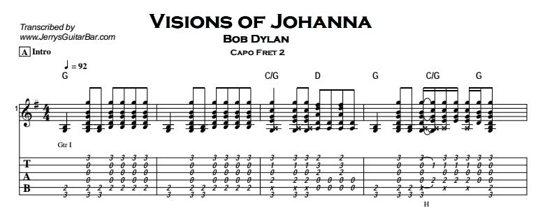 Bob Dylan – Visions of Johanna Tab