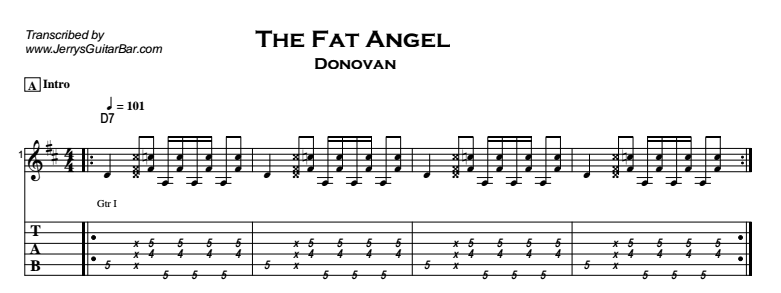 Donovan – The Fat Angel Tab
