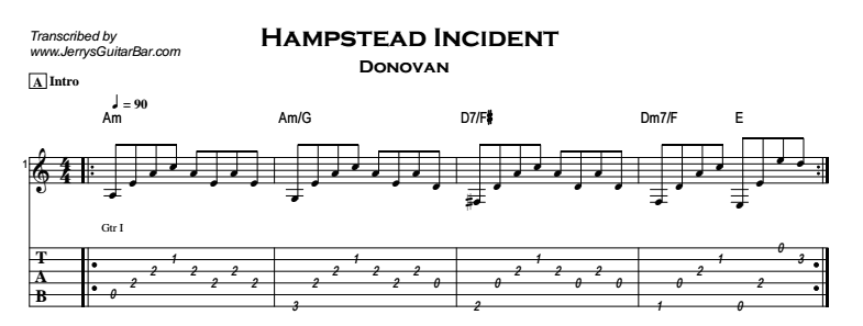 Donovan – Hampstead Incident Tab
