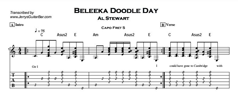 Al Stewart – Beleeka Doodle Day Tab