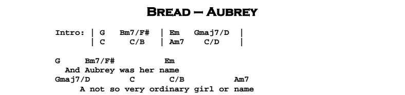 Bread - Aubrey | Guitar Lesson, Tab & Chords | Jerry\'s Guitar Bar