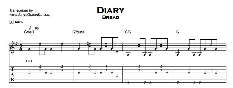 Bread - Diary Tab