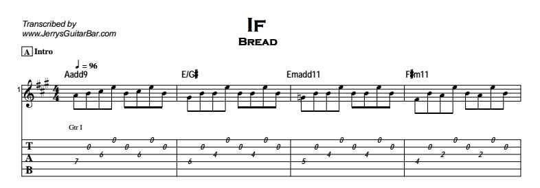 Bread - If Tab