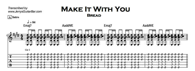 Bread - Make It With You Tab