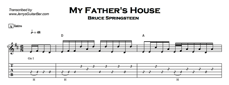 My Fathers House Guitar Lesson Tab Chords Jerrys Guitar Bar