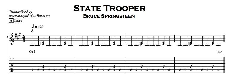 Bruce Springsteen - State Trooper Tab