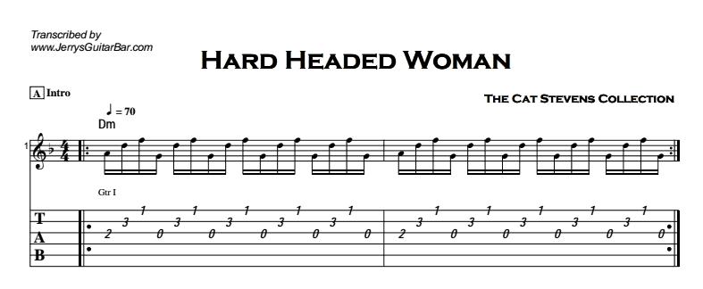 Cat Stevens - Hard Headed Woman Tab