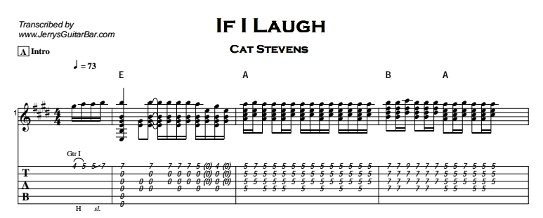 Cat Stevens – If I Laugh Tab