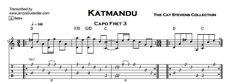 Cat Stevens - Katmandu Tab