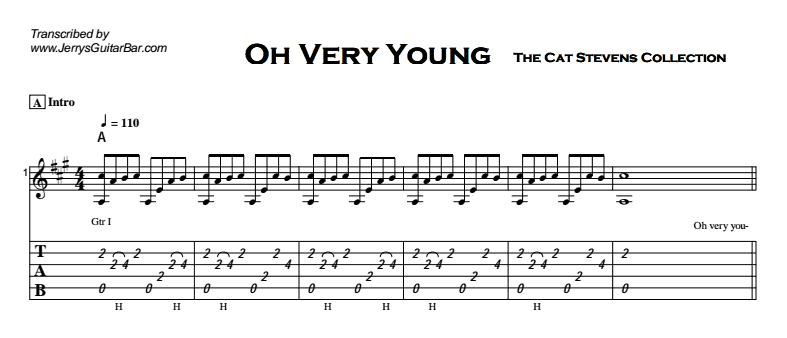 Cat Stevens - Oh Very Young Tab