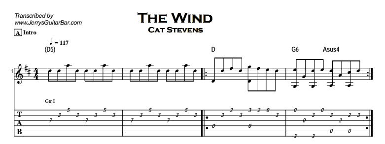 Cat Stevens - The Wind Tab