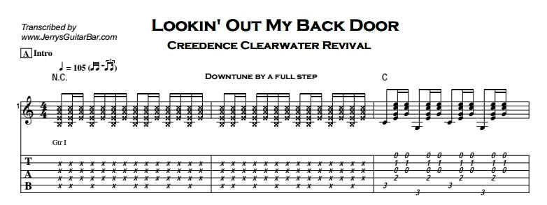 Creedence Clearwater Revival – Lookin' Out My Back Door Tab