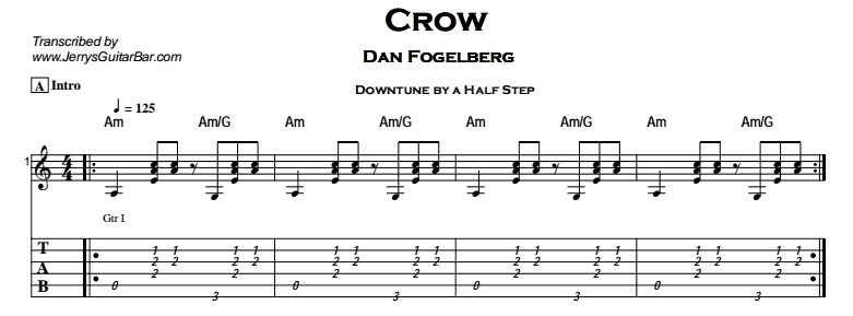 Dan Fogelberg - Crow Tab