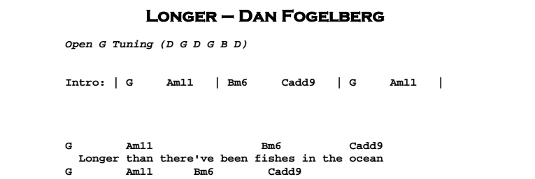 Dan Fogelberg - Longer Chords & Songsheet