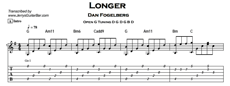 Dan Fogelberg - Longer Tab