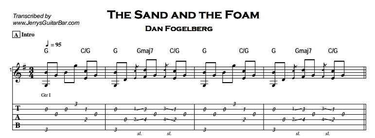 Dan Fogelberg – The Sand and the Foam Tab
