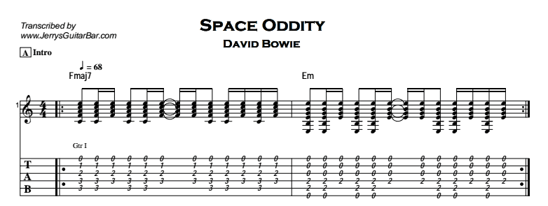 David Bowie – Space Oddity Tab