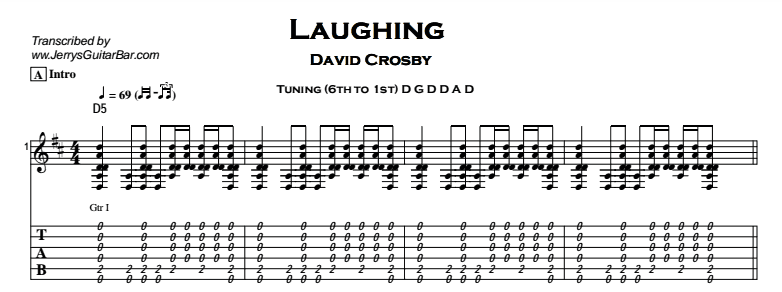 David Crosby - Laughing Tab