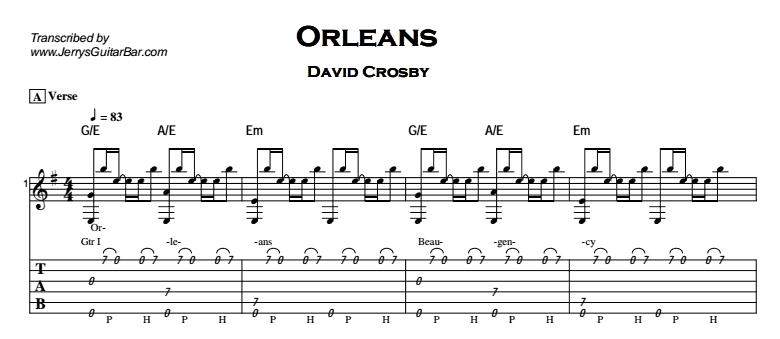 David Crosby – Orleans Tab