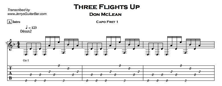 Don McLean – Three Flights Up Tab
