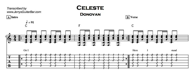 Donovan - Celeste Tab