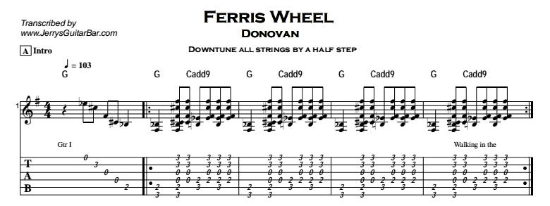 Donovan – Ferris Wheel Tab