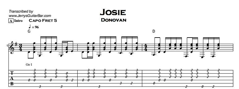 Donovan - Josie - Tab