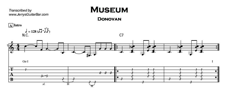 Donovan - Museum Tab