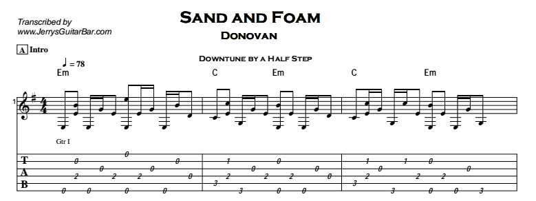 Donovan – Sand and Foam Tab