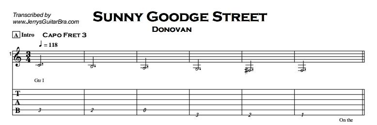 Donovan - Sunny Goodge Street Tab