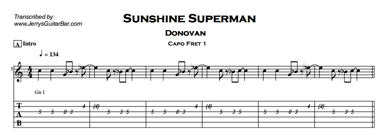 Donovan – Sunshine Superman Tab