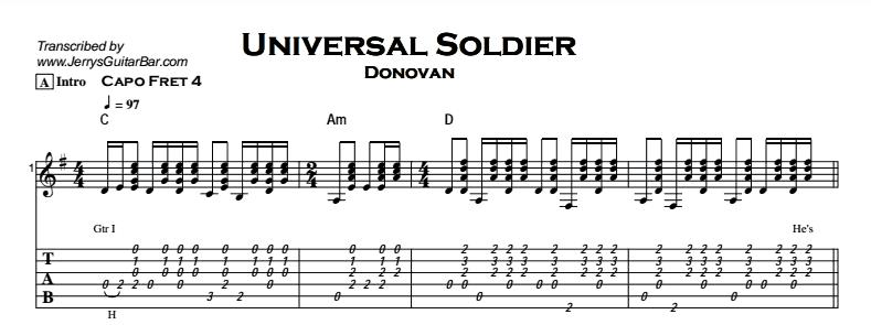 Donovan - Universal Soldier Tab