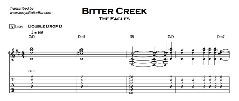 The Eagles – Bitter Creek Tab