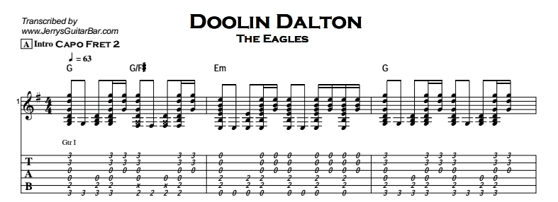 The Eagles - Doolin Dalton Tab