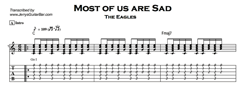 The Eagles – Most of us are Sad Tab