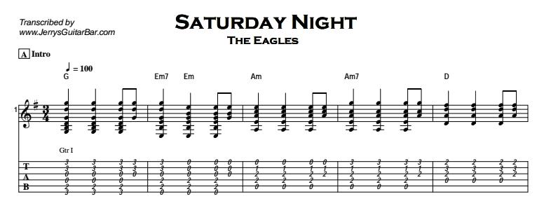 The Eagles – Saturday Night Tab