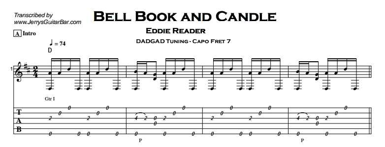 Eddi Reader – Bell, Book and Candle Tab