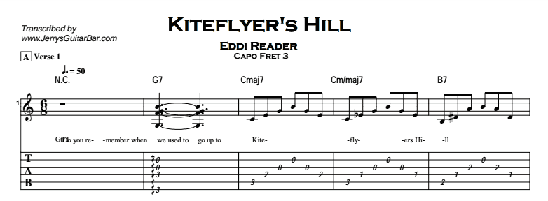 Eddi Reader– Kiteflyer's Hill Tab
