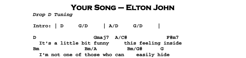 Elton John – Your Song - Guitar Lesson by Jerry\'s Guitar Bar