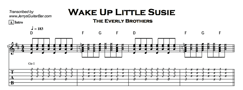 The Everly Brothers Wake Up Little Susie Jerrys Guitar Bar
