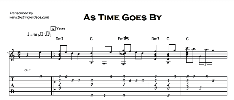 fingerstyle-instrumental-as-time-goes-by-tab-optimized